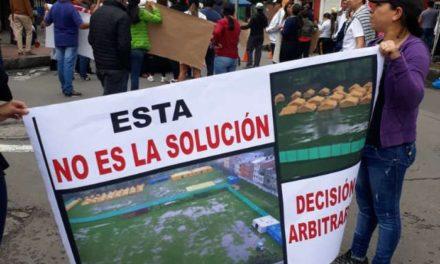 Protestan en Colombia para impedir traslado de migrantes venezolanos