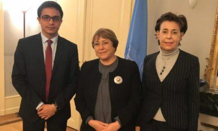 Michelle Bachellet se reunió con Lorent Saleh para evaluar situación en Venezuela