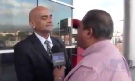 Periodista hondureño golpeó en la cara a representante diplomático de Venezuela en ese país