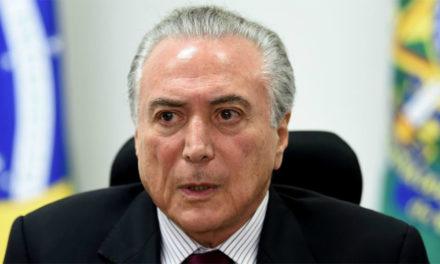 Arrestaron al ex presidente brasileño Michel Temer