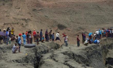 Birmania | 54 personas murieron en un corrimiento de tierra en una mina