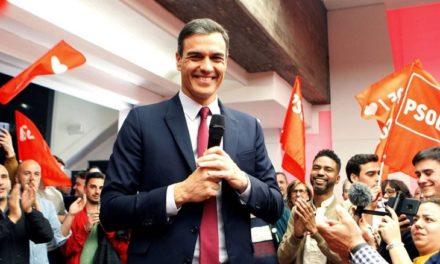 Partido Socialista de Pedro Sánchez ganó las elecciones en España