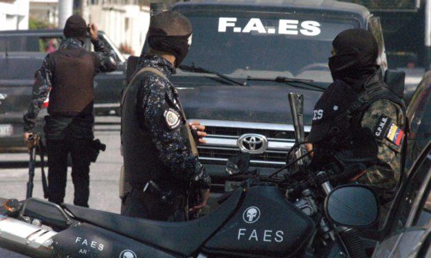 FAES liquidó a dos sujetos en El Esfuerzo