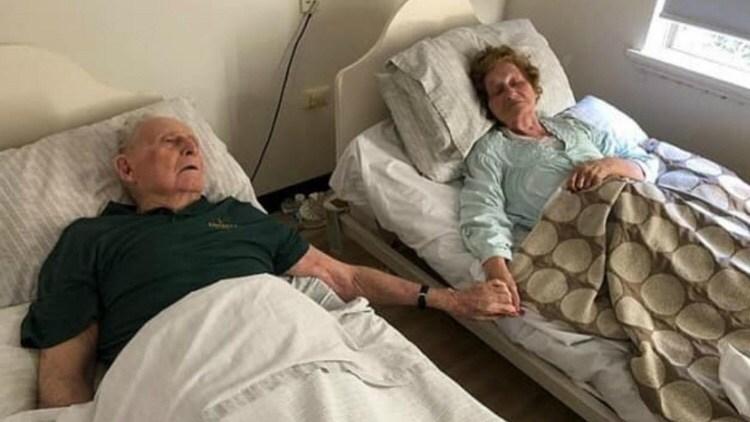 Tras 70 años de matrimonio, fallecieron al mismo tiempo tomados de la mano