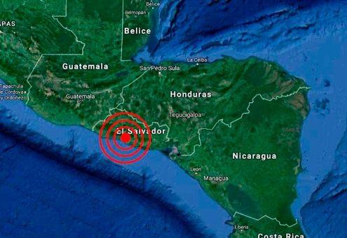 Sismo de 4.9 sacude a El Salvador
