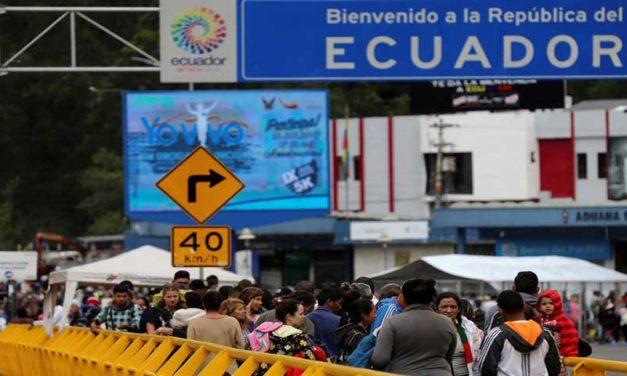 Cayó cifra de venezolanos que llega a Ecuador por exigencia de visa