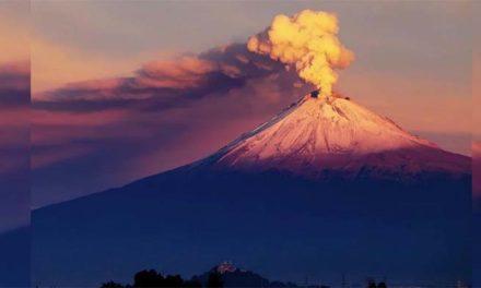 Volcán Popocatépelt registró 18 explosiones en las últimas 24 horas