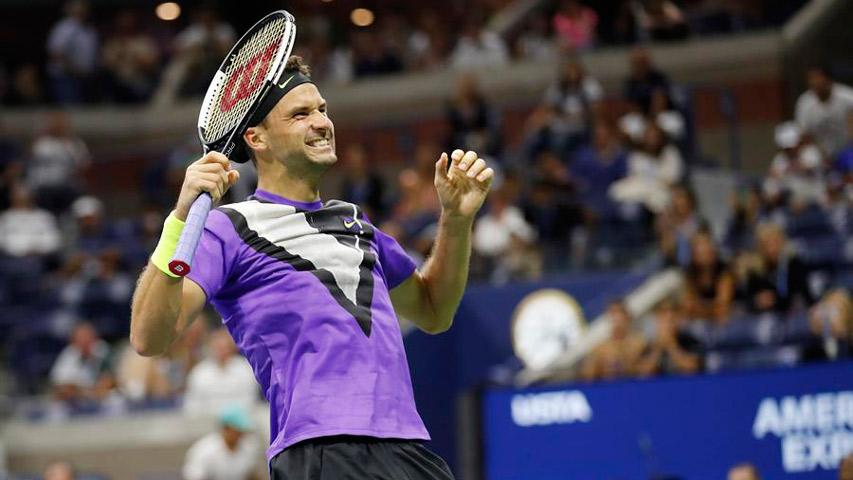 Dimitrov se impuso a Federer y avanzó a semifinal del US Open